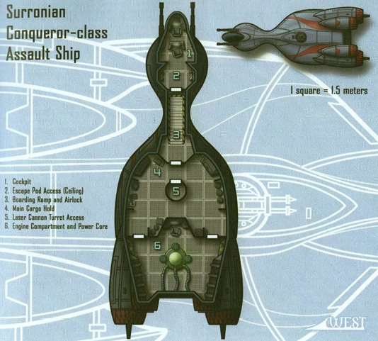 Conqueror Assault Ship - plan. Christopher West, Scum and Villainy, Wizards of the Coast