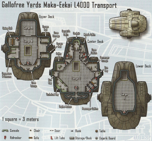 Maka-Eekai L4000 - plan z The Force Unleashed Campaign Guide, Christopher West, Wizards of the Coast