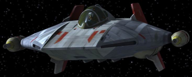 Wczesny rebeliancki A-wing, serial Rebels