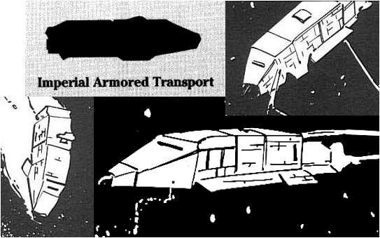 Imperial Armored Transport - kolaż ze Scavenger Hunt i Pirates and Privateers, West End Games